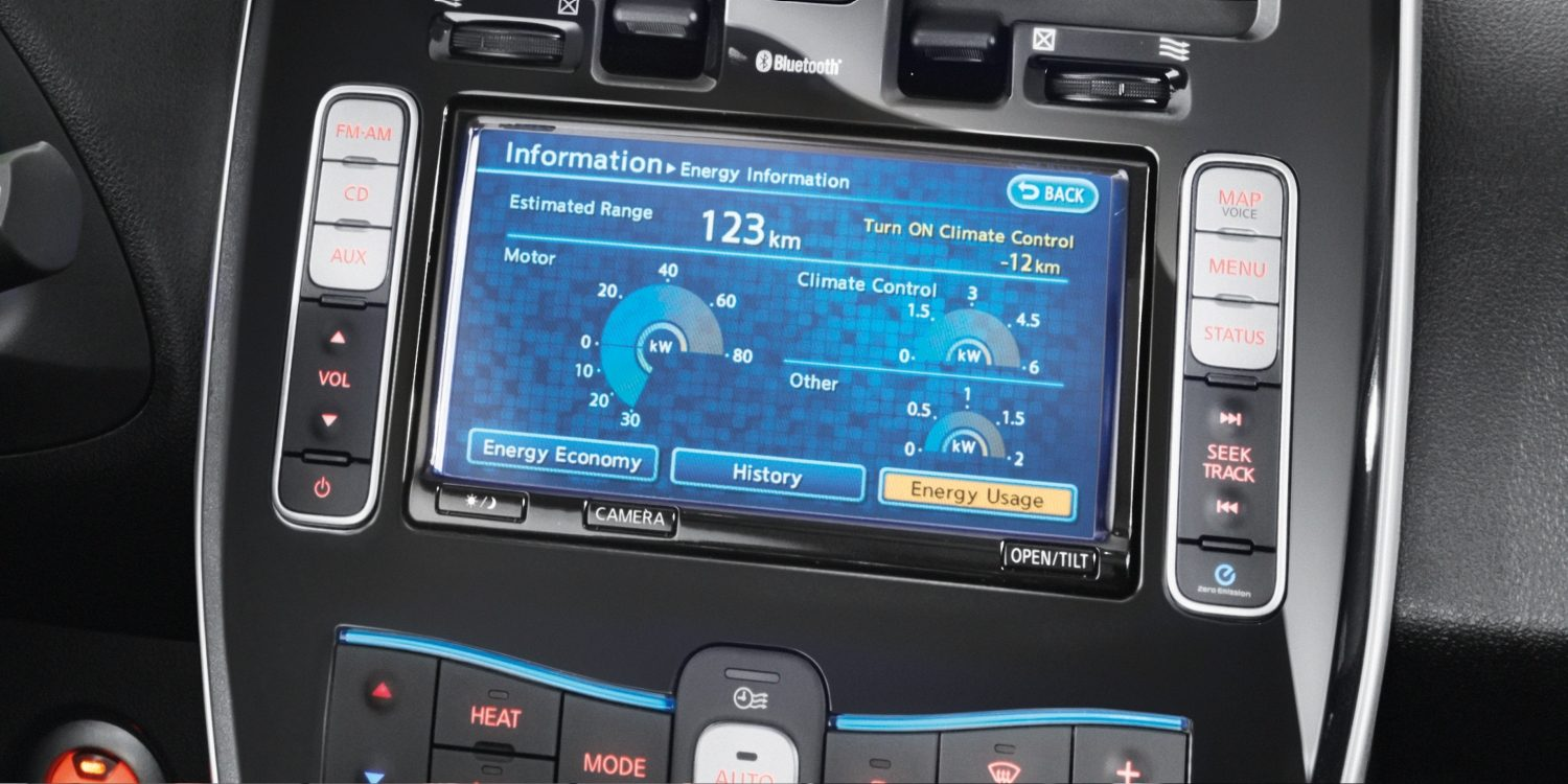 NISSAN LEAF – NissanConnect EV Touchscreen