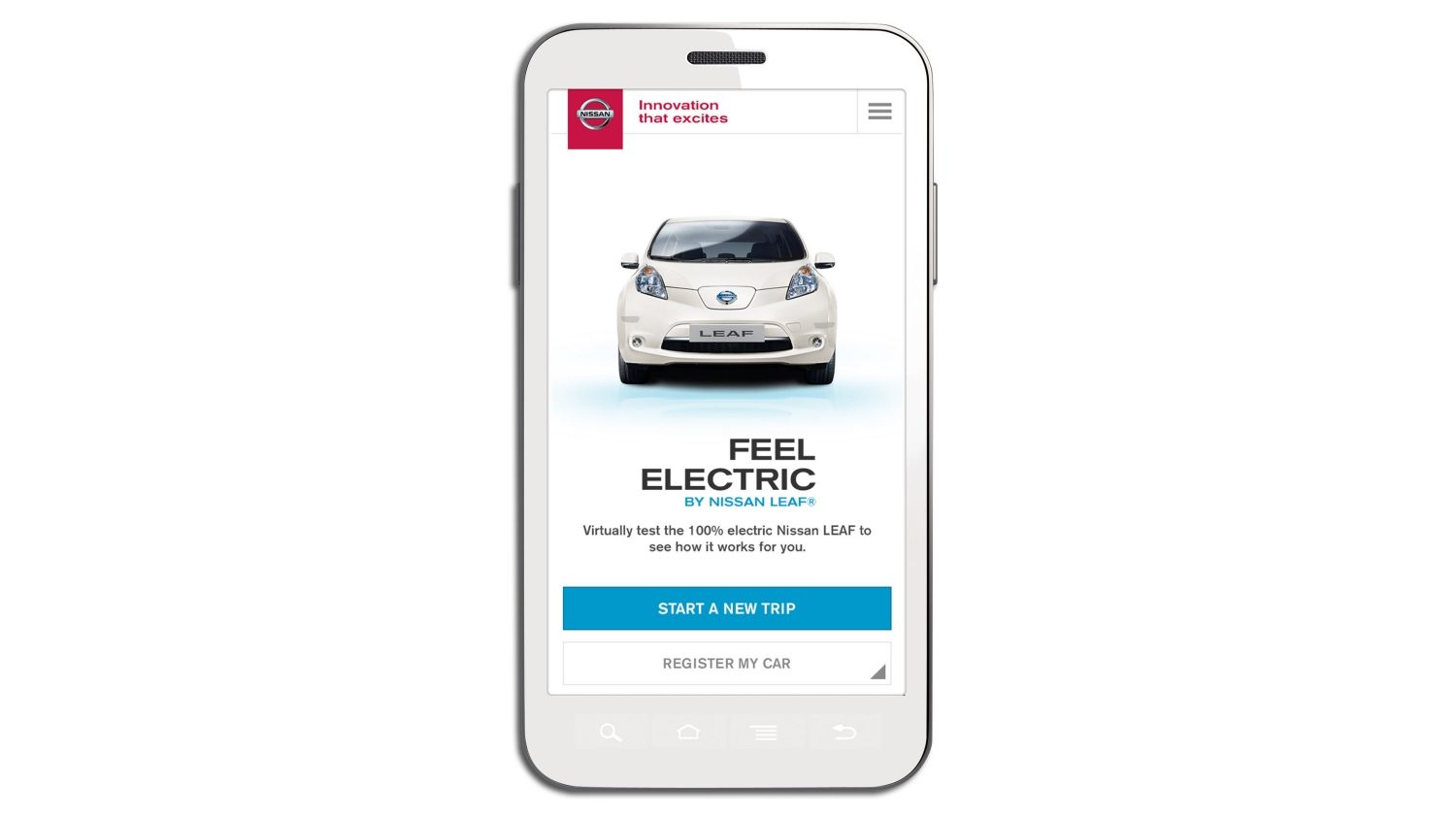 "Nissan LEAF - Application ""Feel Electric"""