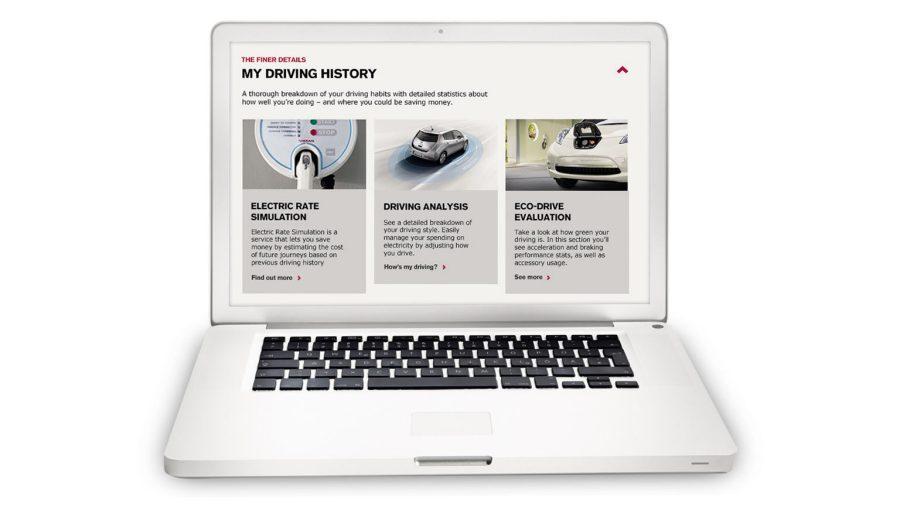 Nissan LEAF - Laptop met NissanConnect EV