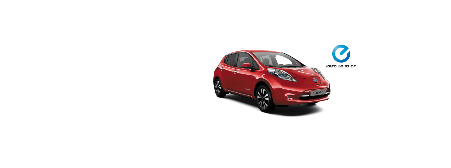 Nissan Leaf - Solid Red