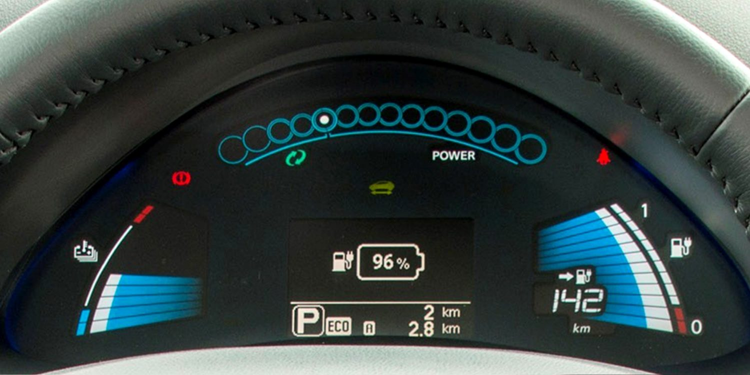 Nissan LEAF - Close-up van meters