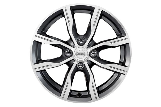 Nissan Micra - 15'' track alloy wheel Dark grey Diamond cut