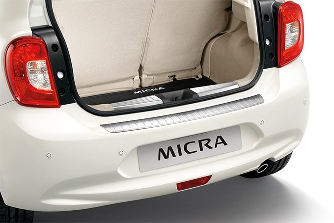 Nissan Micra - Exterior - Rear bumper upper protection
