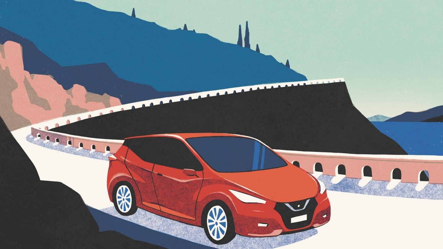 Illustrations de la Nissan MICRA 2017 par David Doran