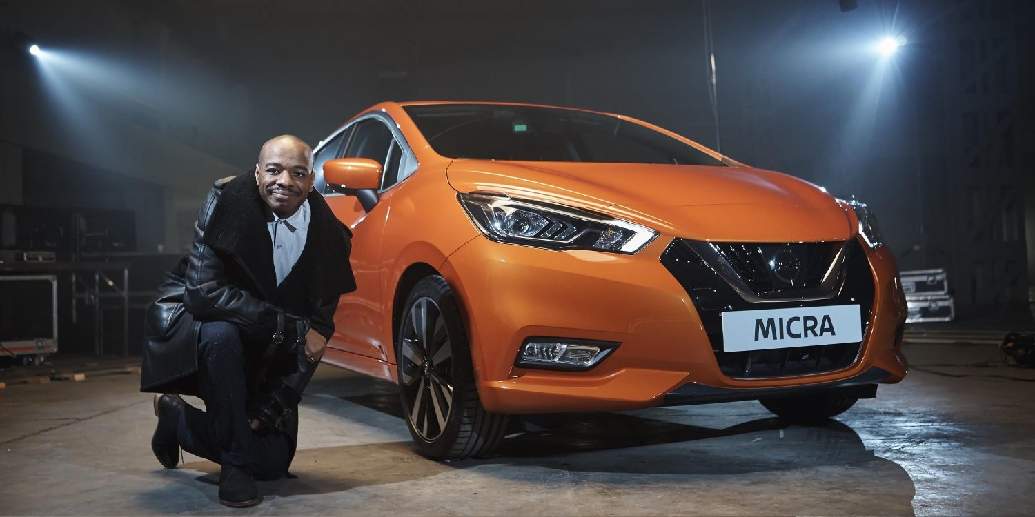 Stephen Wiltshire draws the Nissan Micra