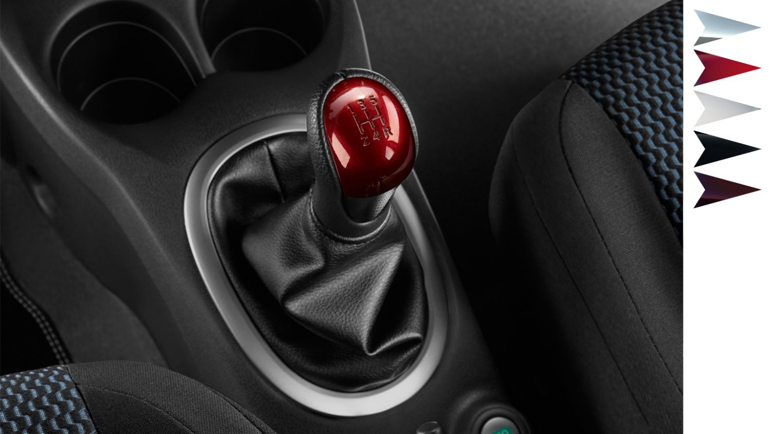Nissan Note - Nissan design studio - Gear knob detroit red