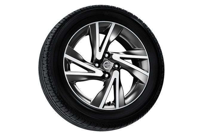 "Nissan Note - Alloy wheel - Lichtmetalen velgen 16"" - Dark Grey (diamond cut) + naafkap (4 stuks)"
