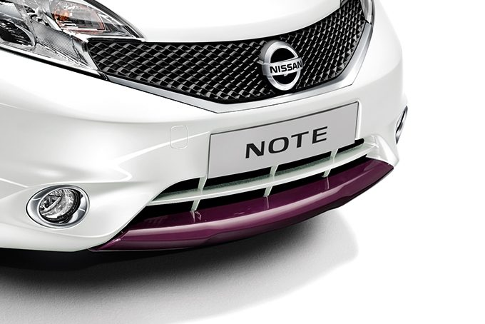 Nissan Note - Premium packs - Front lip finisher