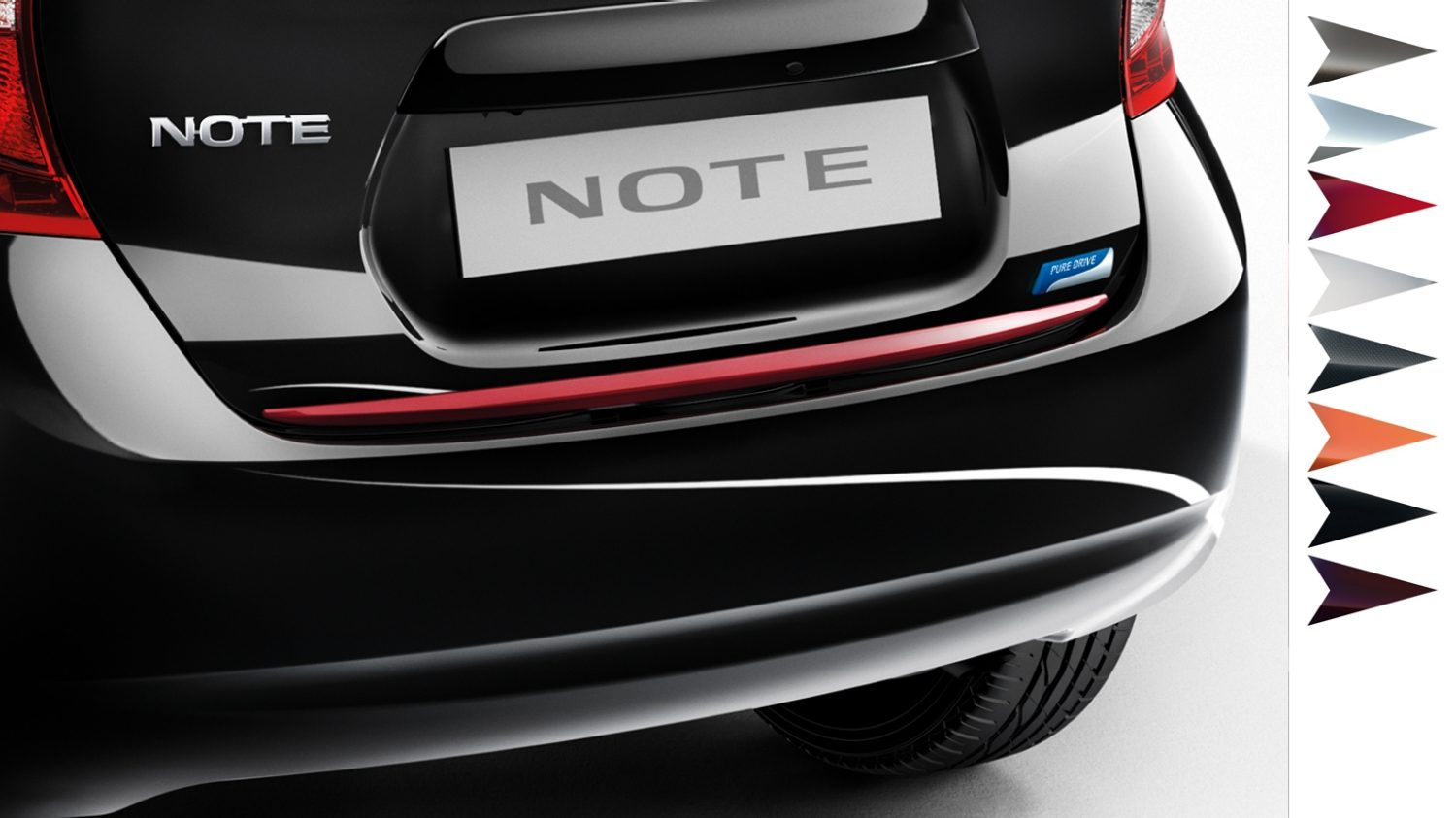 accessoires nissan note voiture familiale citadine nissan. Black Bedroom Furniture Sets. Home Design Ideas