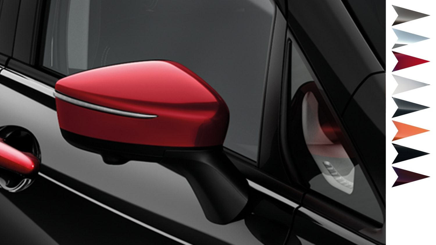 Nissan Note - Nissan design studio - Mirror caps detroit red