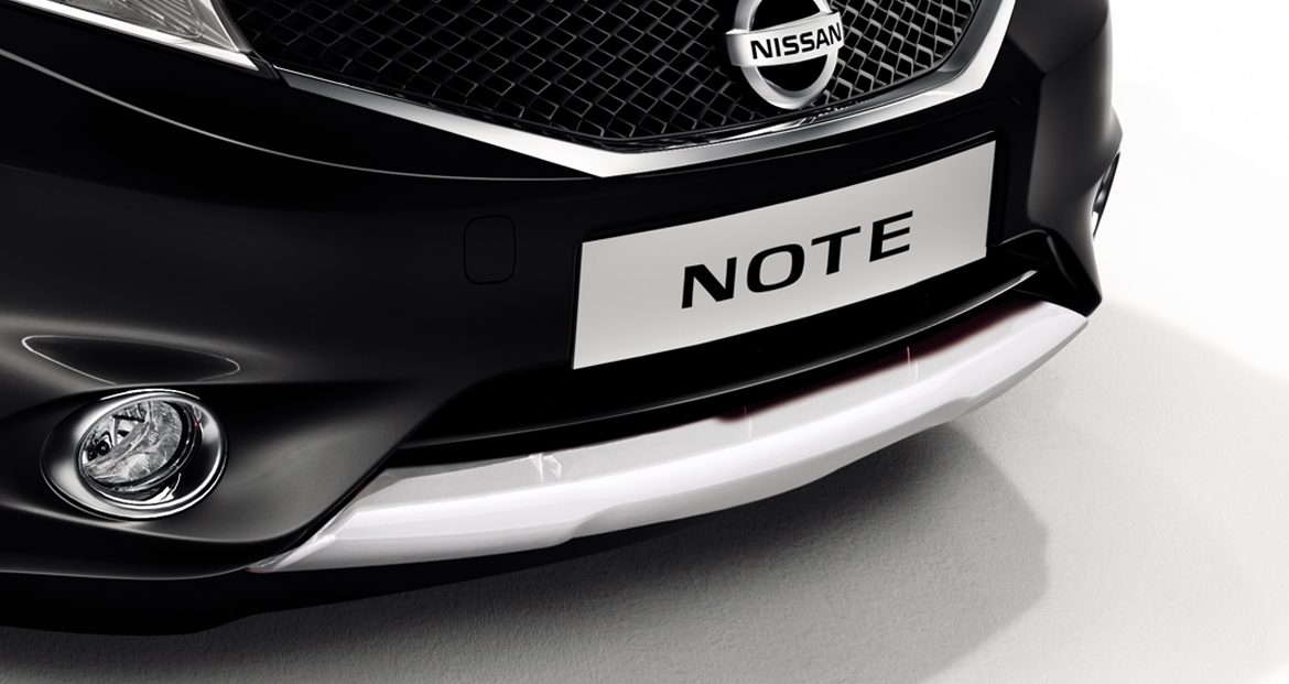 Nissan Note - Popular - Front lip finisher London white
