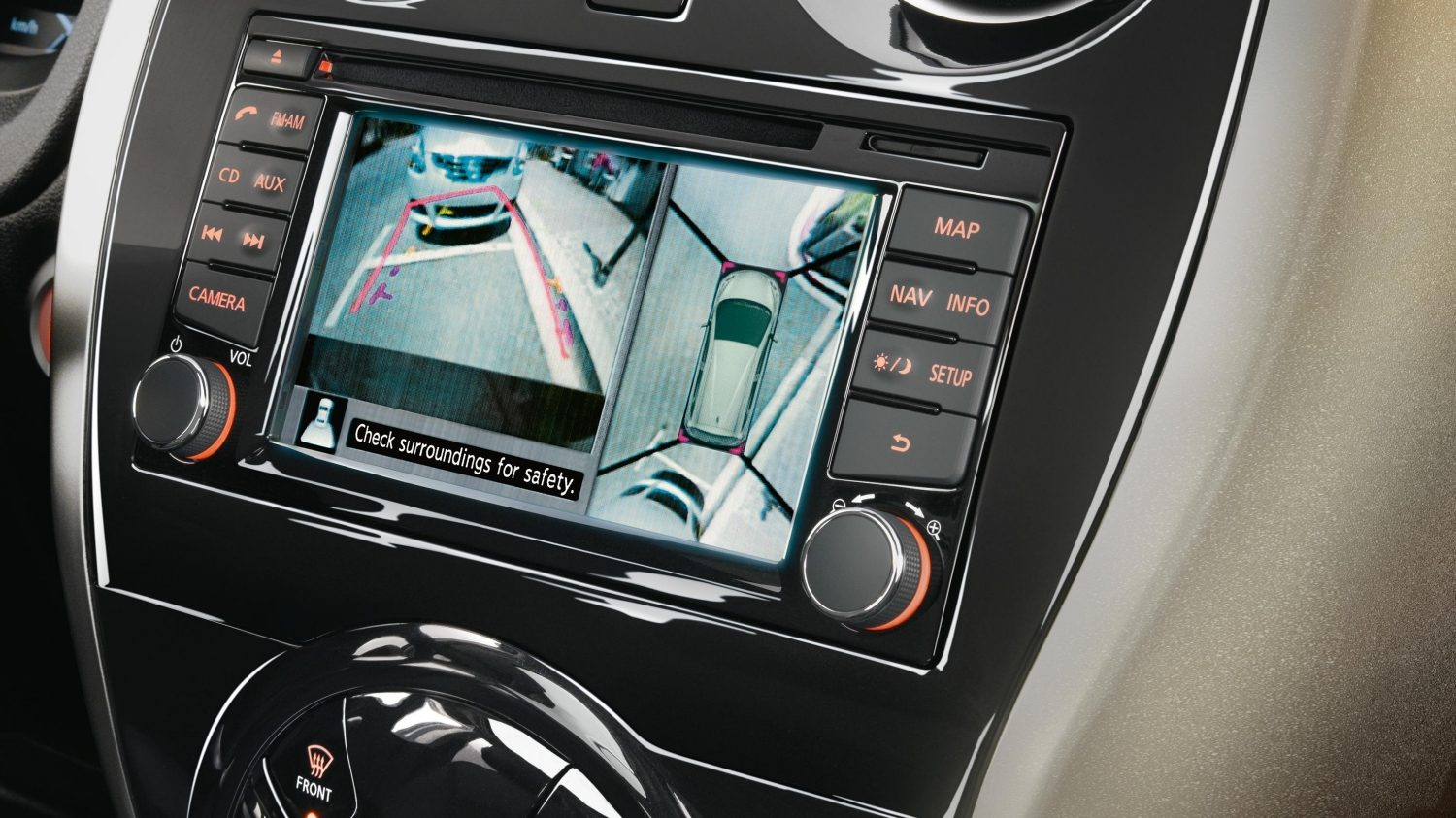 NISSAN NOTE – AROUND VIEW MONITOR für 360° Rundumsicht