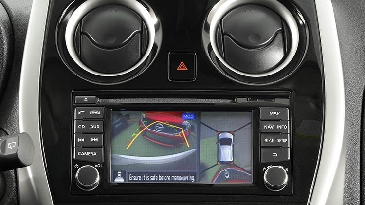 Nissan NOTE – Rear view monitor