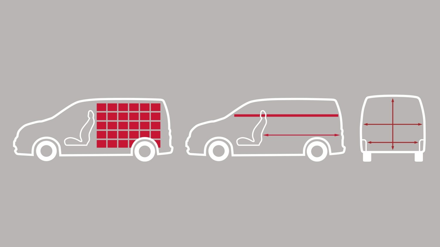 NISSAN NV200 – Illustration över lastkapacitet