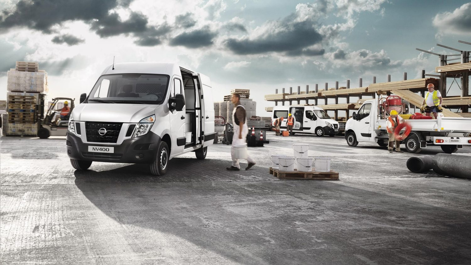 Nissan NV400 - In un cantiere