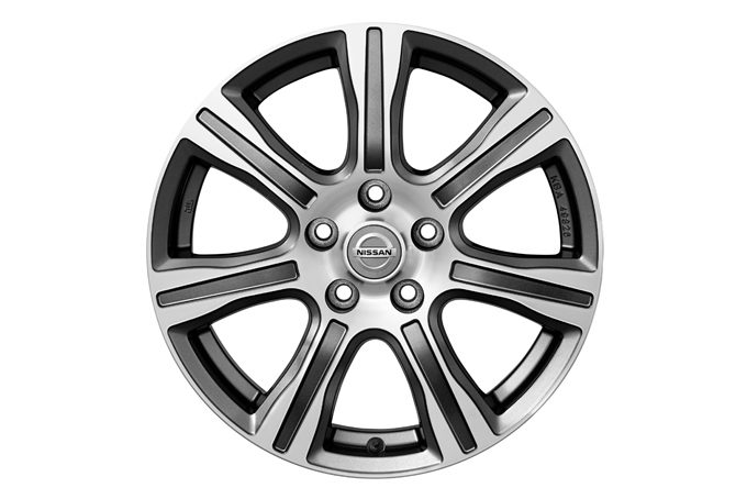 "Nissan Pulsar hatchback - 17"" BOLD alloy wheel Dark Grey Diamond Cut"
