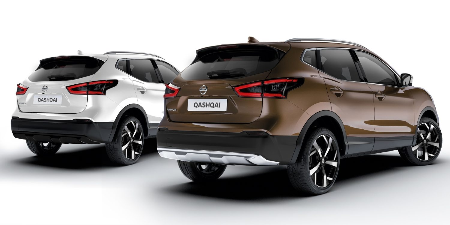 Nissan QASHQAI Crossover packs chroom en zwart