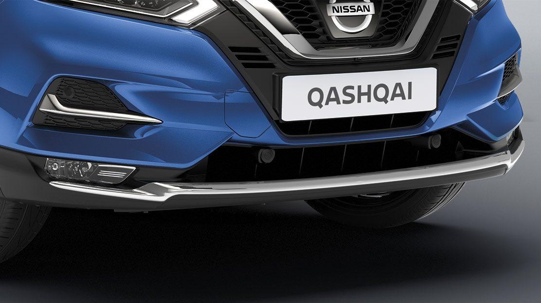 Хромированная накладка на передний бампер для Nissan QASHQAI