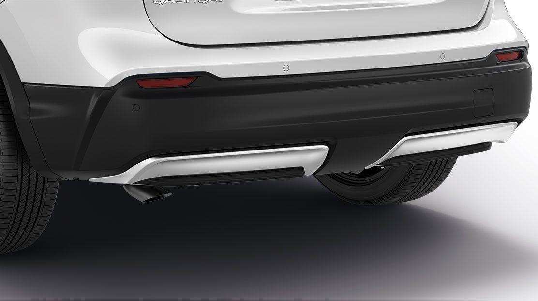 Жемчужно-белая нижняя накладка на задний бампер для Nissan QASHQAI