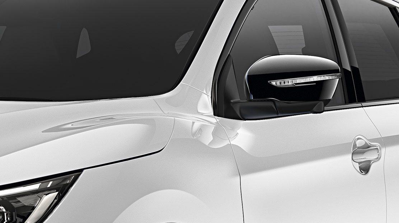 Накладки на зеркала для Nissan QASHQAI, черные