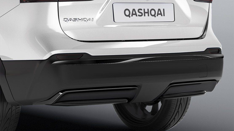 Элементы отделки на задний бампер для Nissan QASHQAI