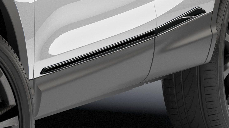 Накладки на пороги дверей для Nissan QASHQAI, черные