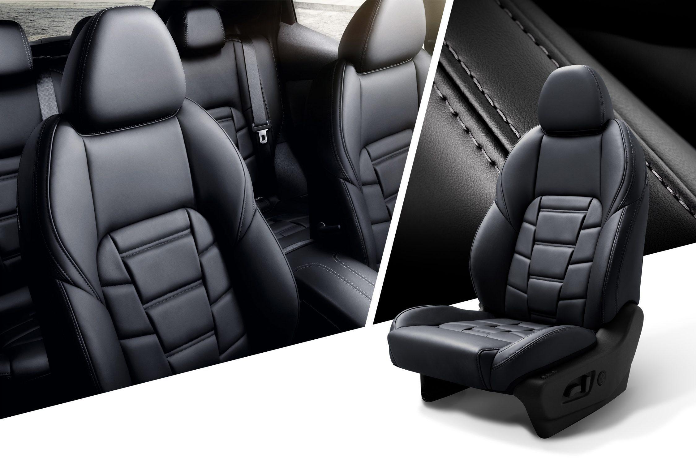Nissan QASHQAI, коллаж с изображением сидений, отделки и сидений крупным планом