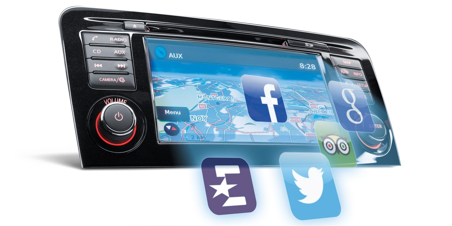 Icônes d'applications à l'écran NissanConnect du crossover Nissan QASHQAI
