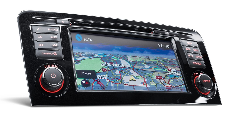Экран системы навигации NissanConnect в кроссовере Nissan QASHQAI