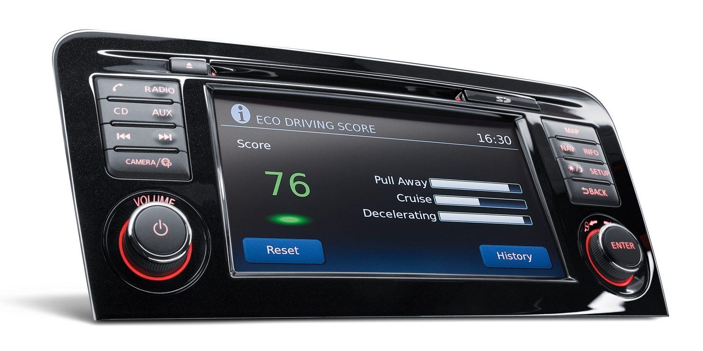 Экран отображения информации в реальном времени NissanConnect в Nissan QASHQAI