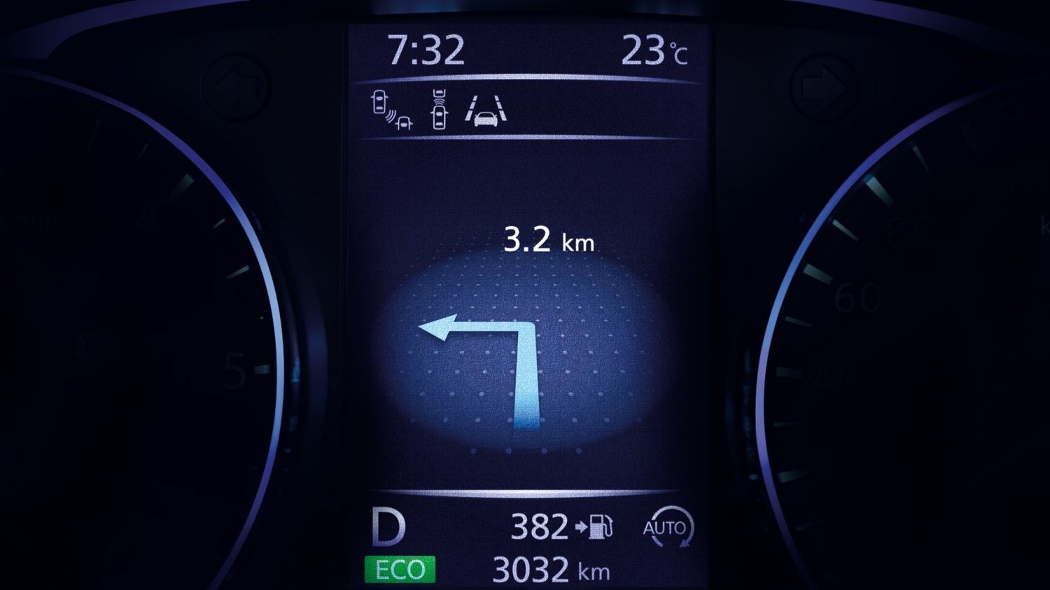 Nissan QASHQAI TFT-display routebeschrijving