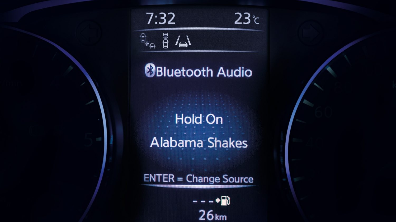 Nissan QASHQAI TFT-display Bluetooth® audio