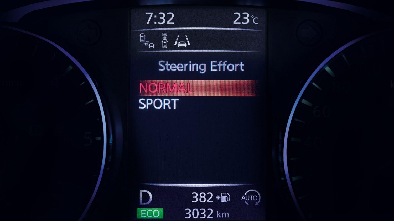 ЖК-экран режимов вождения Nissan QASHQAI