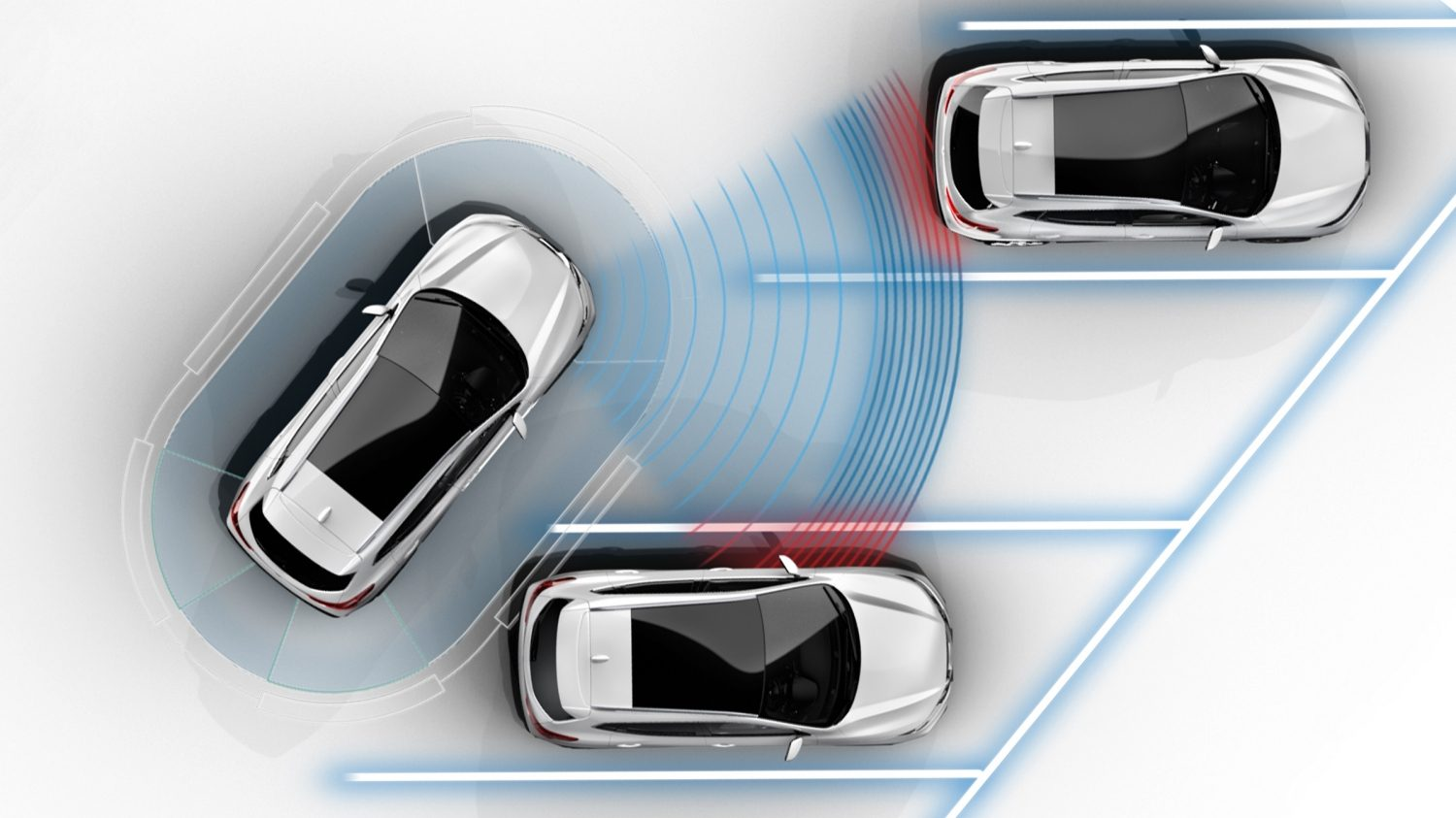 Nissan QASHQAI intelligent parkeringsassistent, illustration
