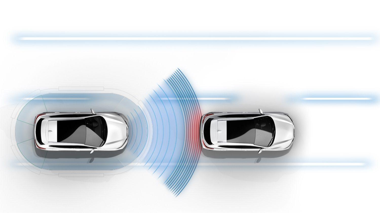 Изображение интеллектуальной системы Nissan QASHQAI для экстренного торможения