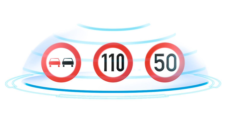 Изображение распознавания дорожных знаков Nissan QASHQAI