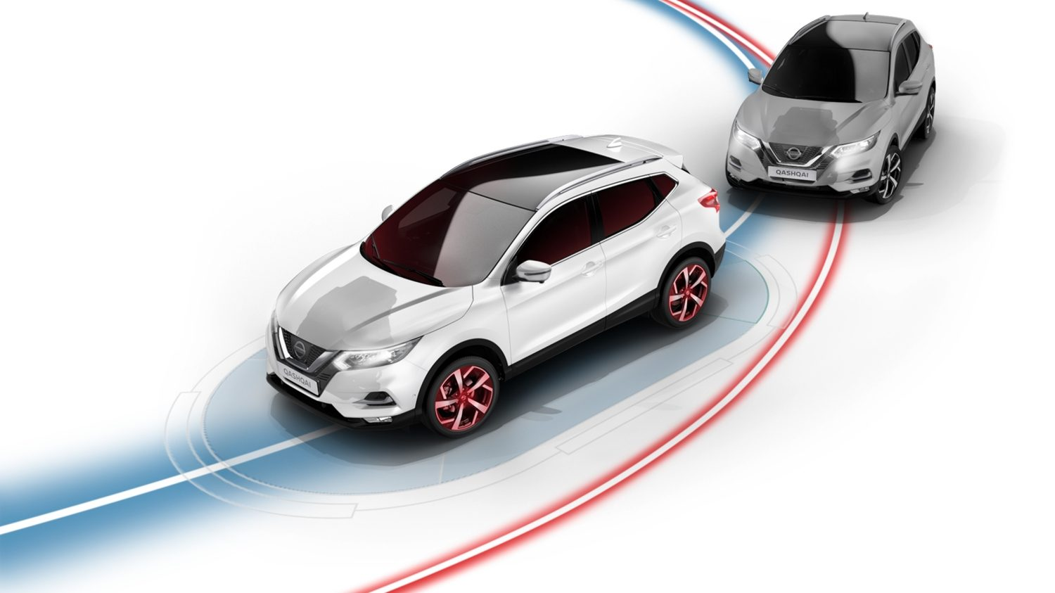 Nissan QASHQAI Intelligent spårkontroll, illustration