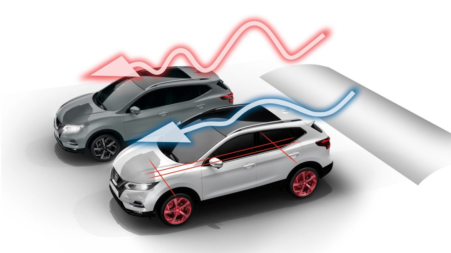 Nissan QASHQAI illustratie Intelligent Ride Control
