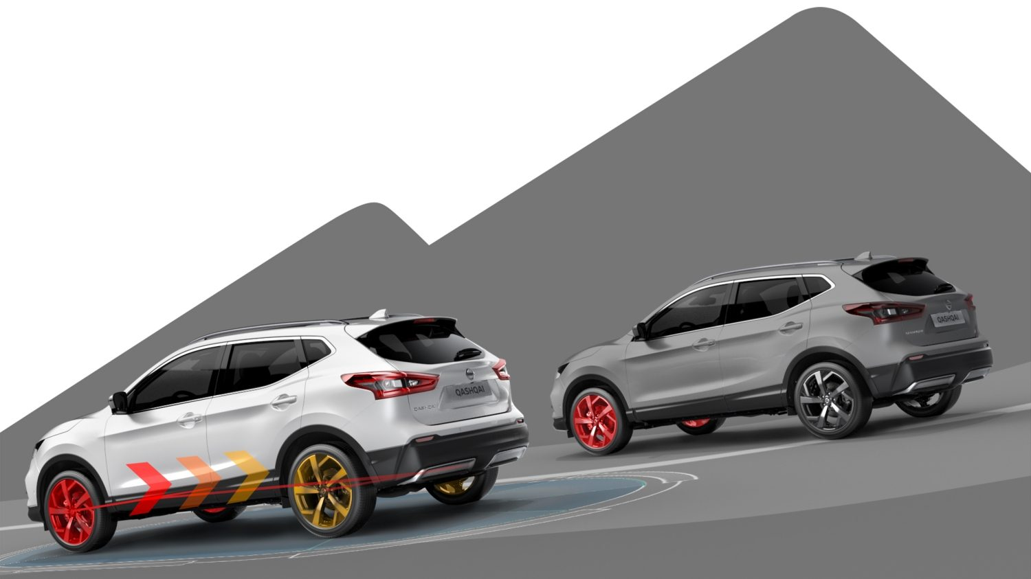 Nissan QASHQAI illustratie Intelligent 4x4