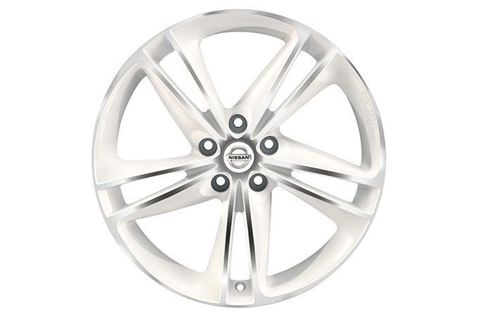"Nissan Qashqaï - Alloy wheels - 19"" Lichtmetalen velg diamond cut Ibiscus , White"
