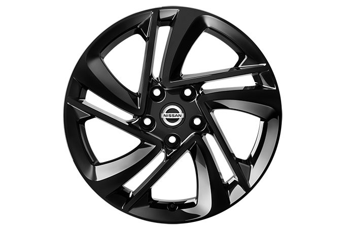 "Nissan Qashqai - Alloy wheels - 17"" Snow Flake alloy wheel - black"