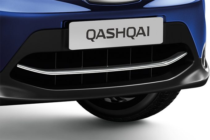 Nissan Qashqaï - Styling - Voorbumper finisher ICE CHROME