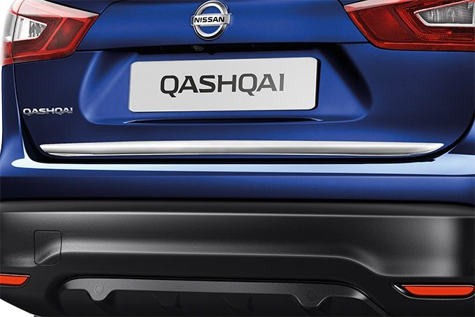 Nissan Qashqai - Styling - Trunk lower finisher ice chrome