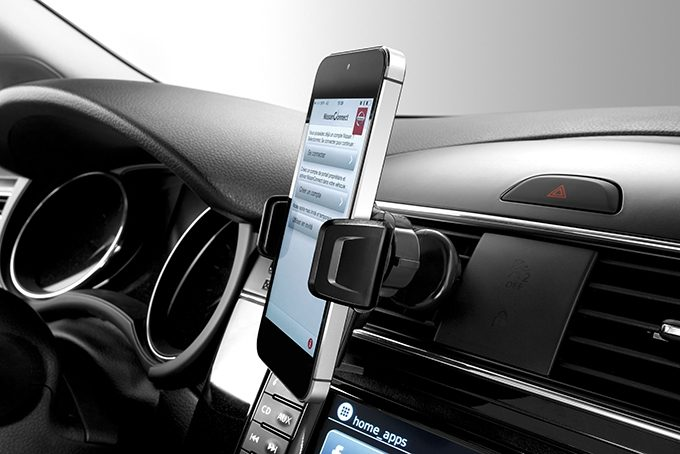 Nissan Qashqai - Interior - Smartphone holder push air
