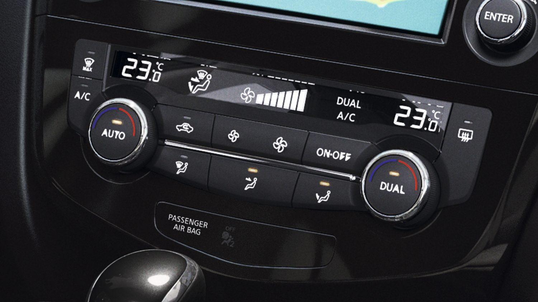 Nissan X-TRAIL: климат-контроль крупным планом