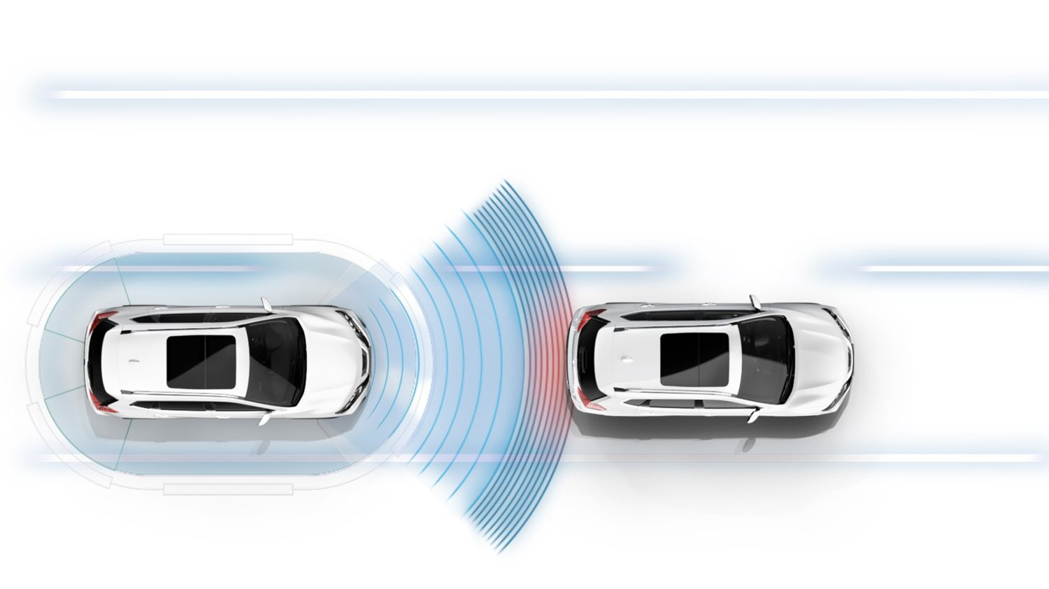 X-Trail Intelligent Emergency Braking Illustration