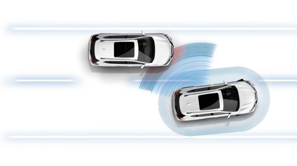 X-Trail Blind Spot Warning Illustration