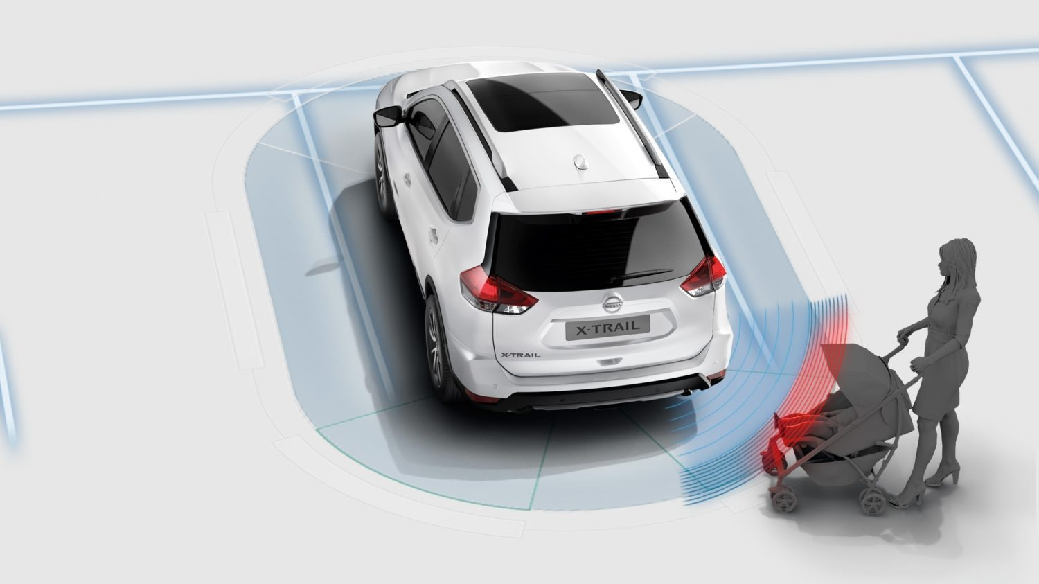 Nissan X-TRAIL Moving Object Detection