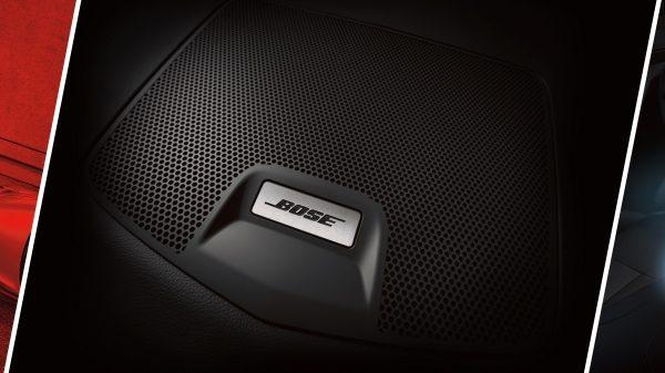 Круговий колаж із зображенням акустичної системи BOSE в Nissan X-TRAIL