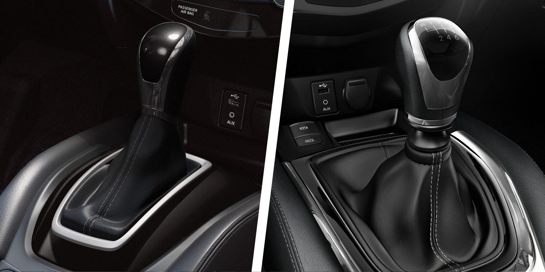 Nissan X-TRAIL, автомобиль с полным приводом с рычагами автоматической и механической трансмиссии